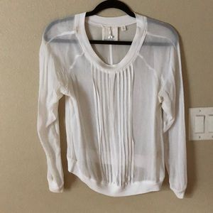 Gorg Anthropologie sheer blouse